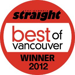 The Urban Puppy Shop Best of Vancouver Award 2012